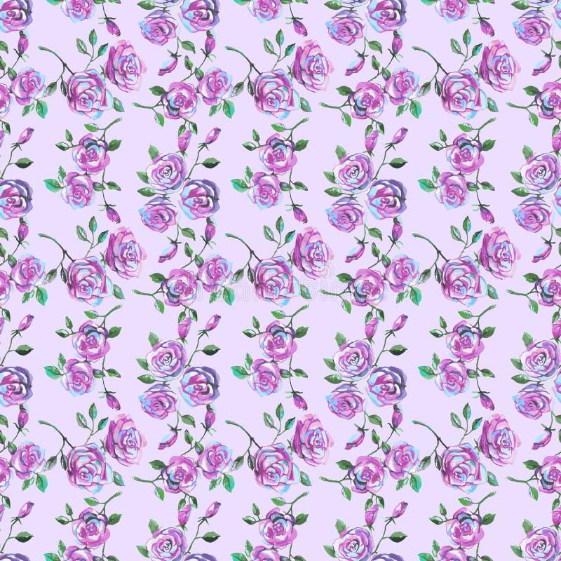 Безшовная картина с красивыми розами иллюстрация штока