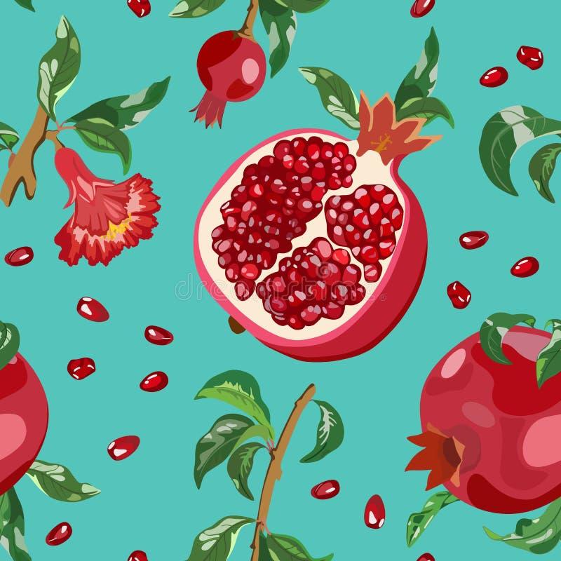 Безшовная картина с красными венисами и листьями также вектор иллюстрации притяжки corel иллюстрация штока
