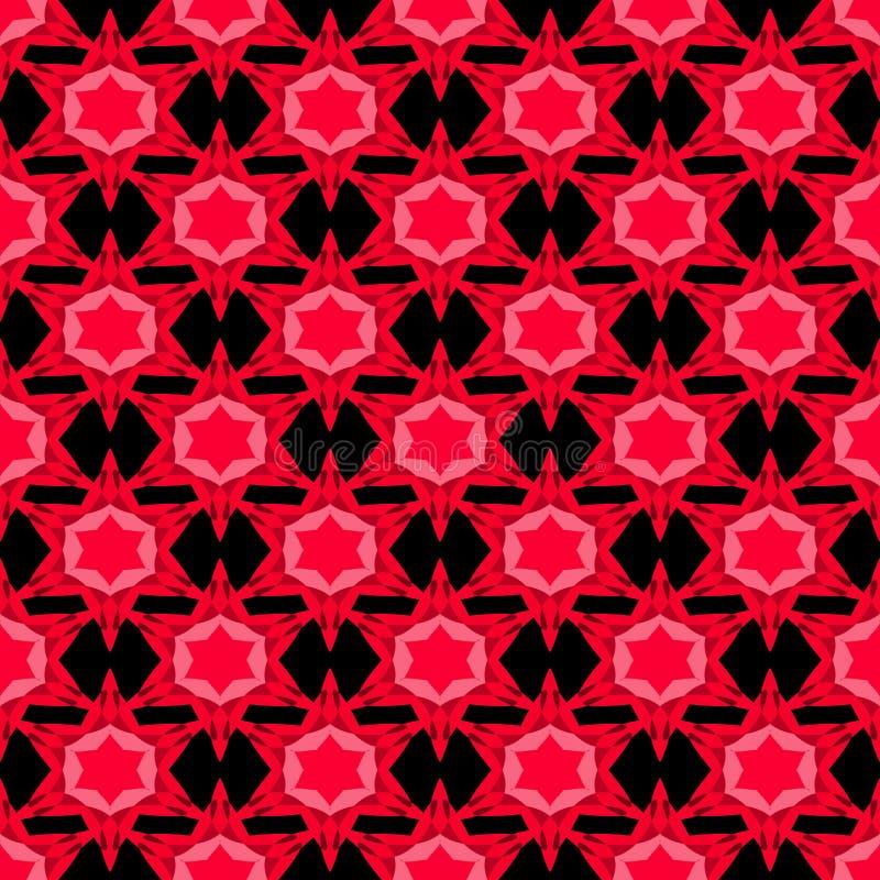Безшовная картина с красными звездами иллюстрация штока