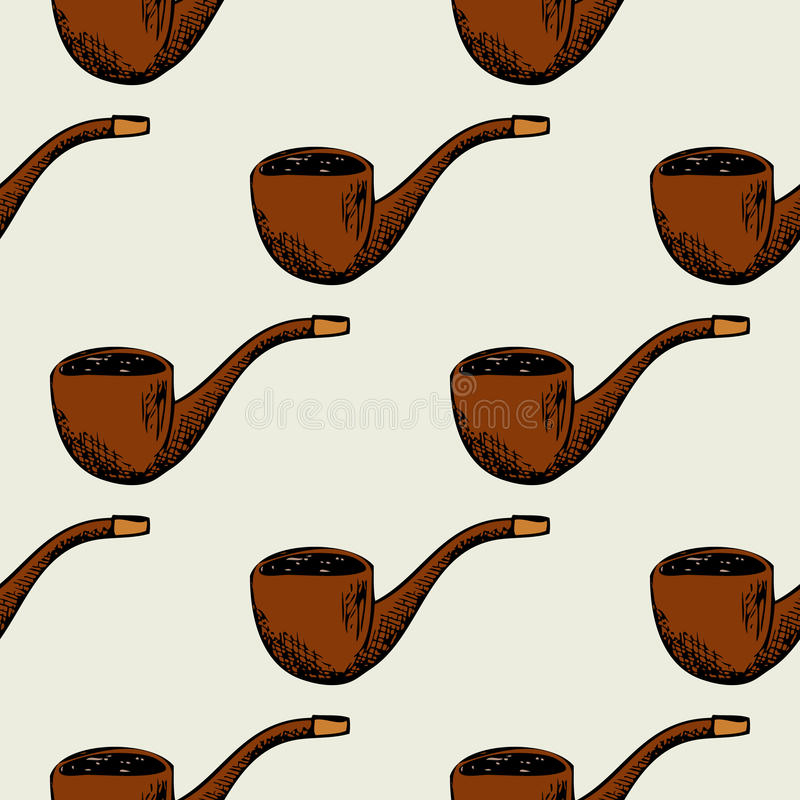 Безшовная картина с куря трубой иллюстрация вектора