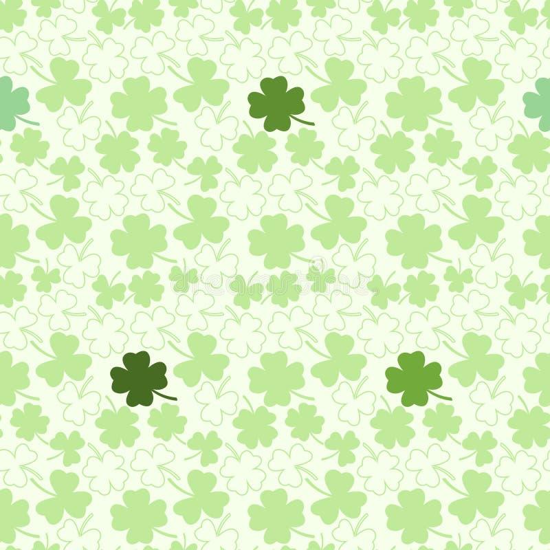 Download Безшовная картина с клевером Иллюстрация штока - иллюстрации насчитывающей культура, ирландия: 37926015
