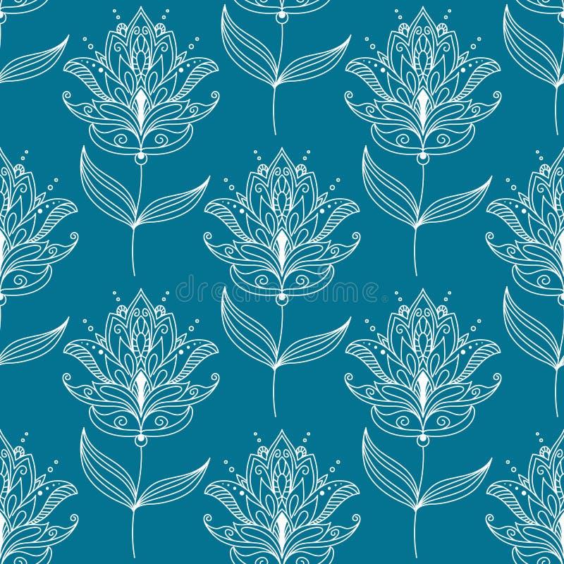 Download Безшовная картина с мотивами Пейсли флористическими Иллюстрация вектора - иллюстрации насчитывающей орнаментально, творческо: 40587305