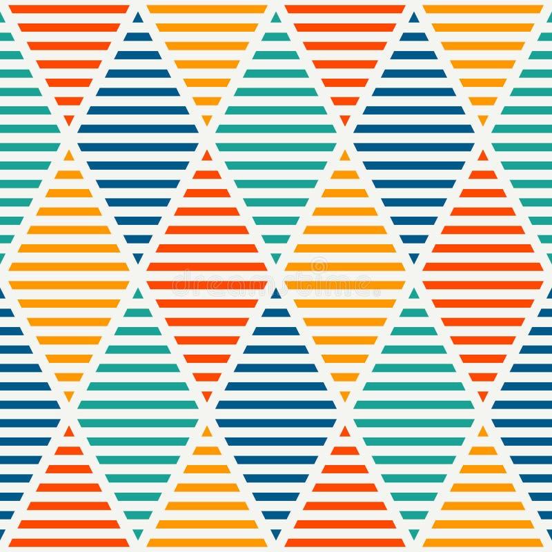 Безшовная картина с насиженными диамантами Обои Argyle Мотив косоугольников и lozenges Повторенные геометрические диаграммы иллюстрация штока