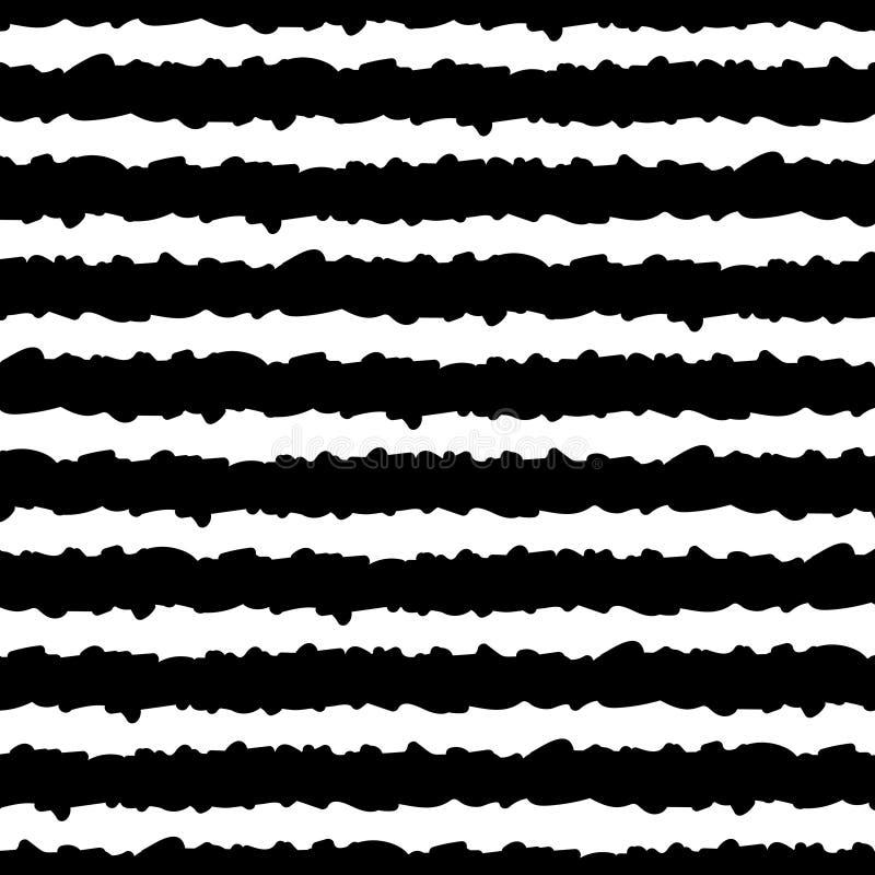 Безшовная картина с нашивками руки вычерченными черно-белыми r EPS10 иллюстрация штока