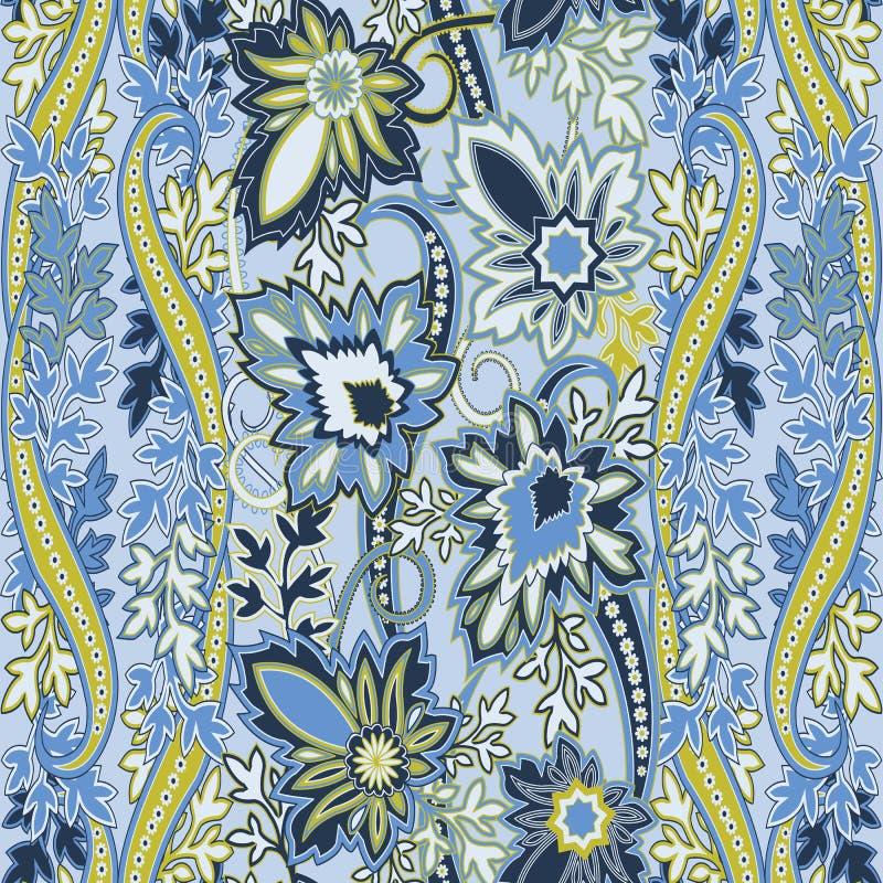 Безшовная картина с орнаментом paisleyTraditional восточным филигранным бесплатная иллюстрация