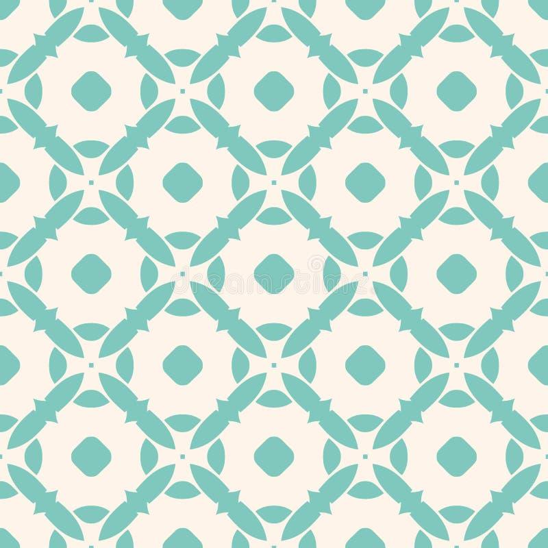 Безшовная картина с плитками мозаики Геометрический флористический орнамент предпосылка ретро бесплатная иллюстрация