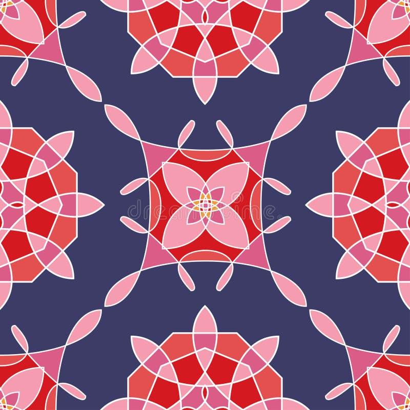 Безшовная картина с покрашенными абстрактными цветками вектор бесплатная иллюстрация
