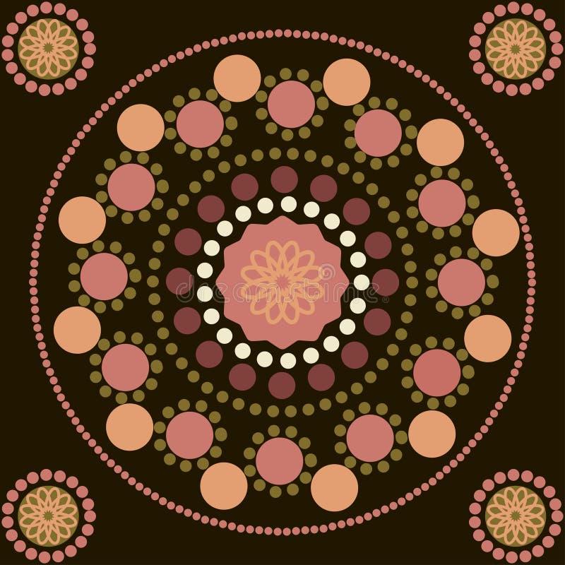 Безшовная картина с покрашенными пунктами и кругами иллюстрация вектора