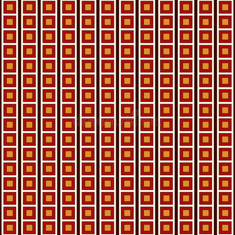 Безшовная картина с простым геометрическим орнаментом Повторенная квадратная абстрактная предпосылка Современная текстура поверхн бесплатная иллюстрация