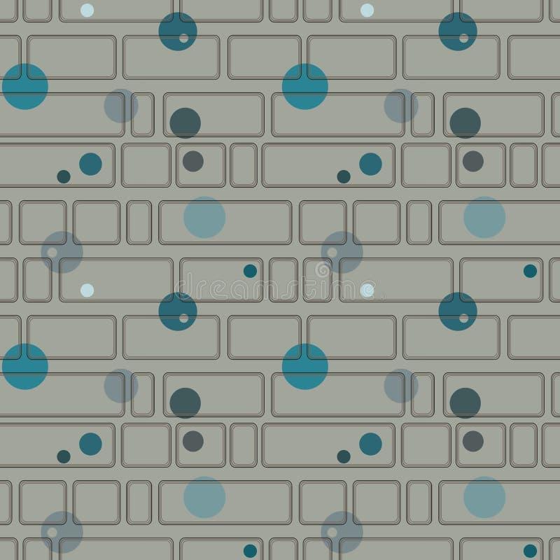 Безшовная картина с прямоугольниками и кругами стоковая фотография rf