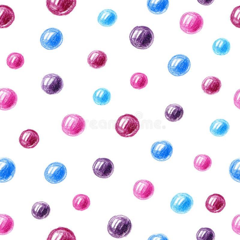 Безшовная картина с пузырями иллюстрация вектора