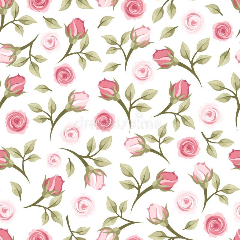 Безшовная картина с розами. иллюстрация штока
