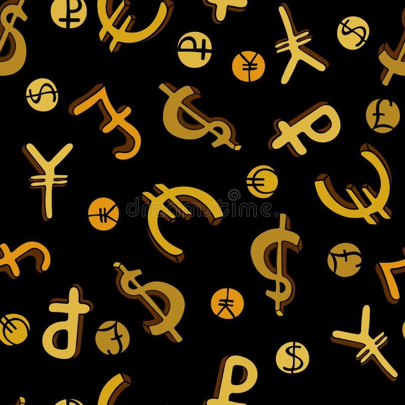 Безшовная картина с символами денег бесплатная иллюстрация