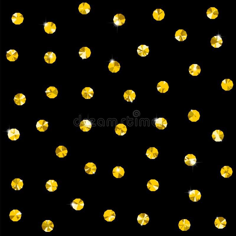 Безшовная картина с сияющими диамантами или chrystals крыла орнамент черепицей точки польки предпосылки абстрактный винтажный бесплатная иллюстрация