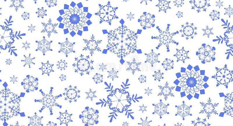 Безшовная картина с снежинками для дизайна зимних отдыхов бесплатная иллюстрация
