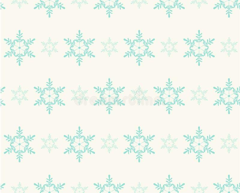 Безшовная картина с снежинками для дизайна зимних отдыхов иллюстрация вектора