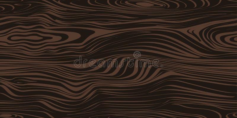 Безшовная картина с темной деревянной текстурой иллюстрация штока
