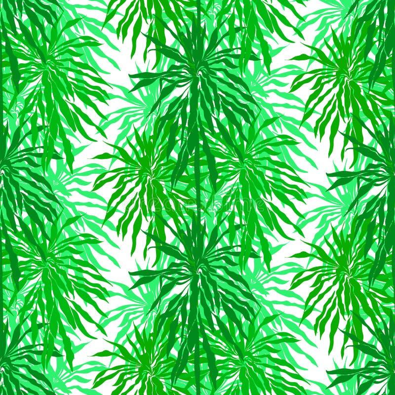 Download Безшовная картина с тропическими листьями ладони Иллюстрация вектора - иллюстрации насчитывающей средства, california: 40577576