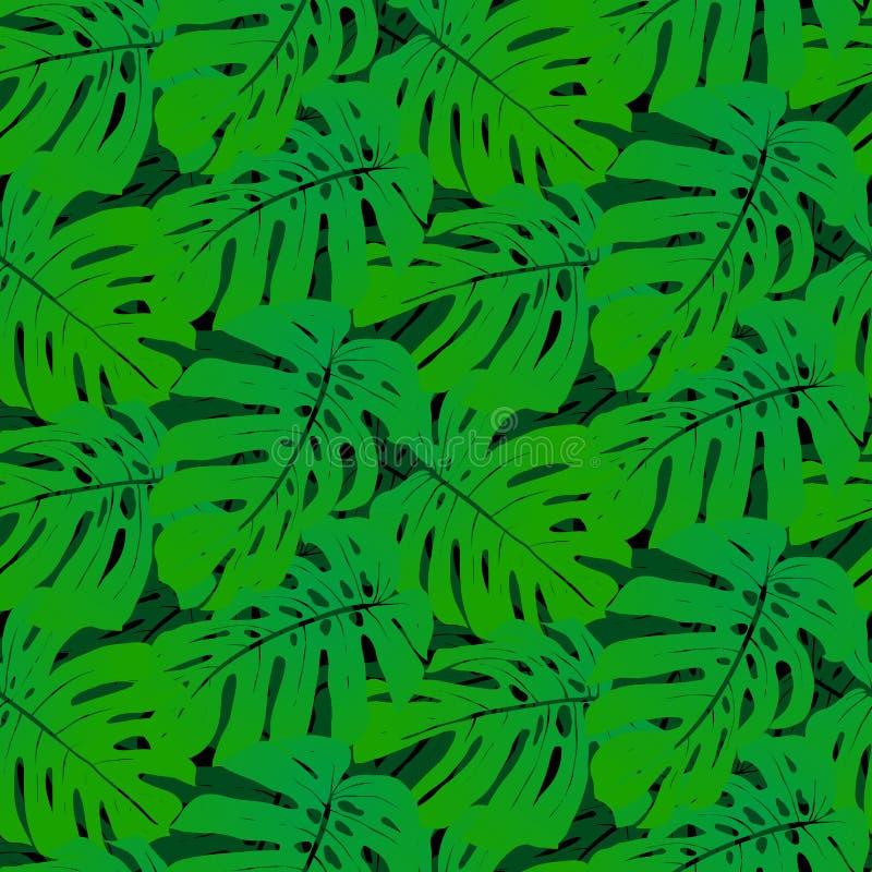 Download Безшовная картина с тропическими листьями Иллюстрация вектора - иллюстрации насчитывающей свеже, художничества: 40576797