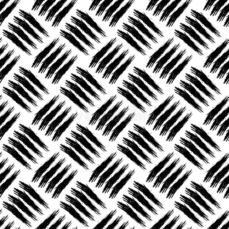 Безшовная картина с ходами щетки grunge Насиживать вычерченной текстуры руки грязный иллюстрация штока