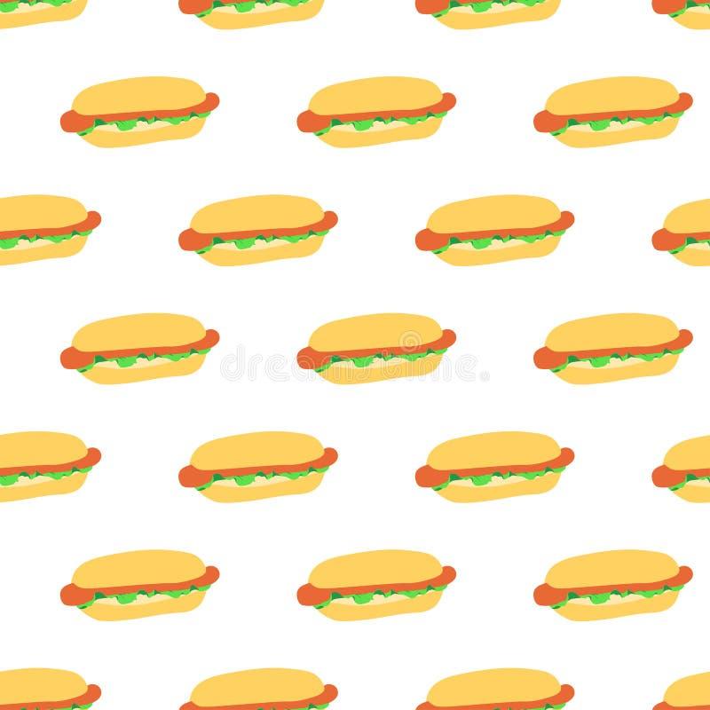 Безшовная картина с хот-догами бесплатная иллюстрация
