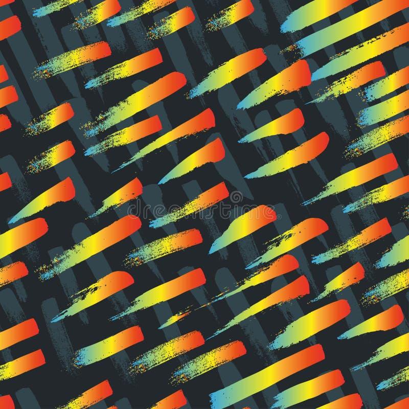 Безшовная картина с ходом щетки иллюстрация вектора