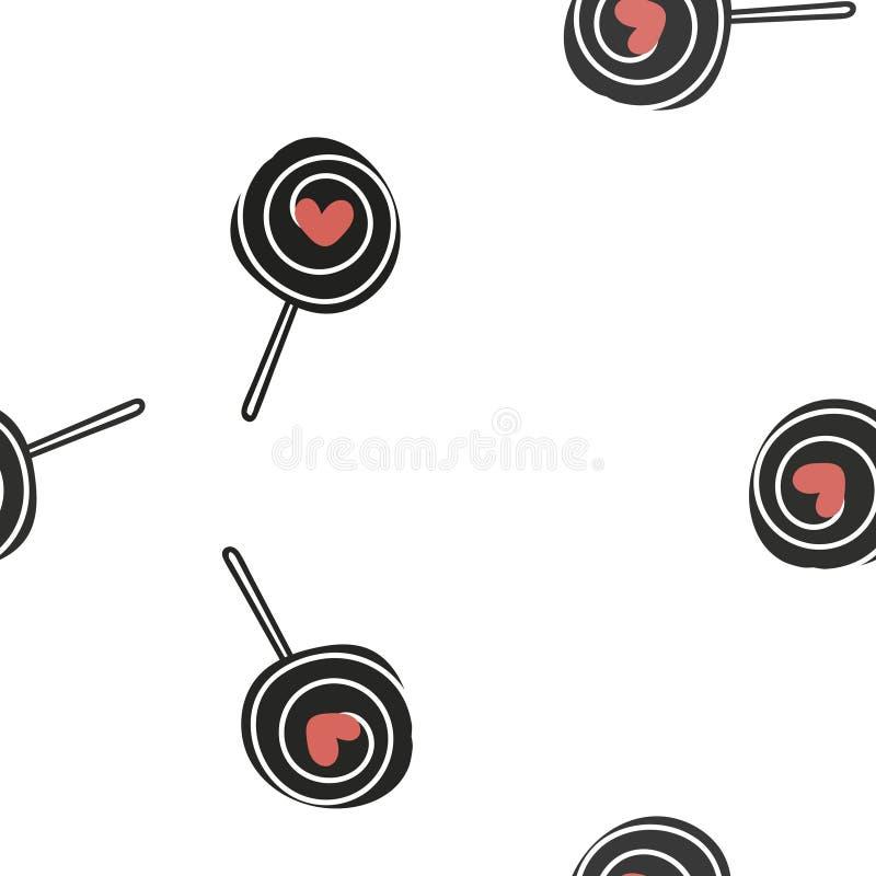 Безшовная картина с цветастыми сердцами вектор бесплатная иллюстрация