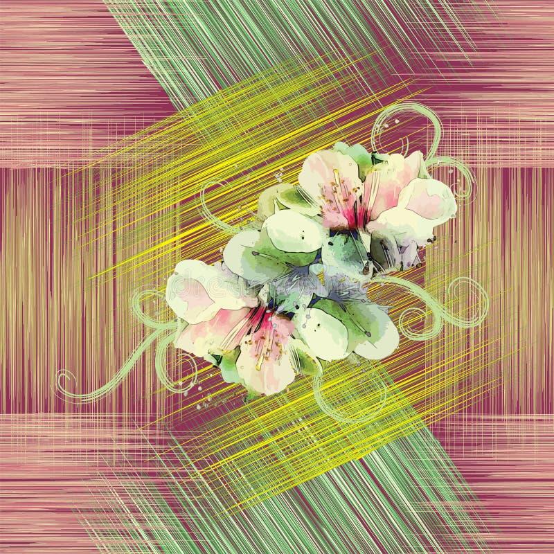 Безшовная картина с цветками весны бесплатная иллюстрация