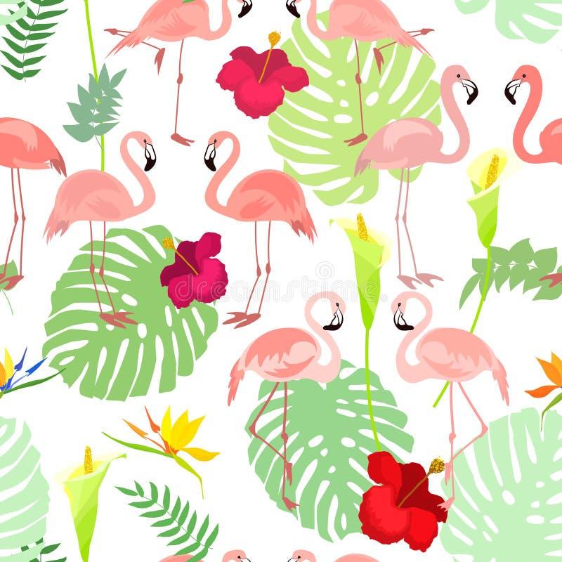 Безшовная картина с цветками и toucan птицей бесплатная иллюстрация