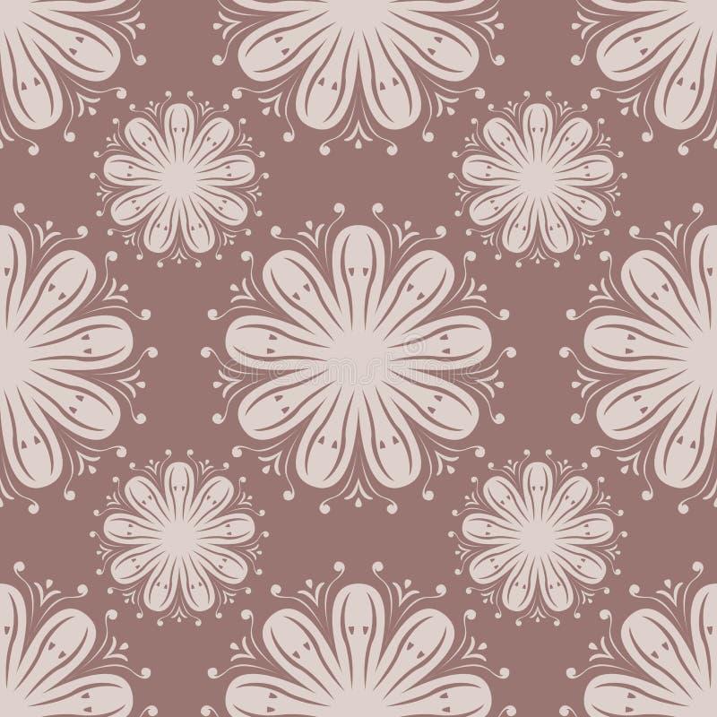 Безшовная картина с элементом цветка Брайн и бежевые абстрактные обои бесплатная иллюстрация