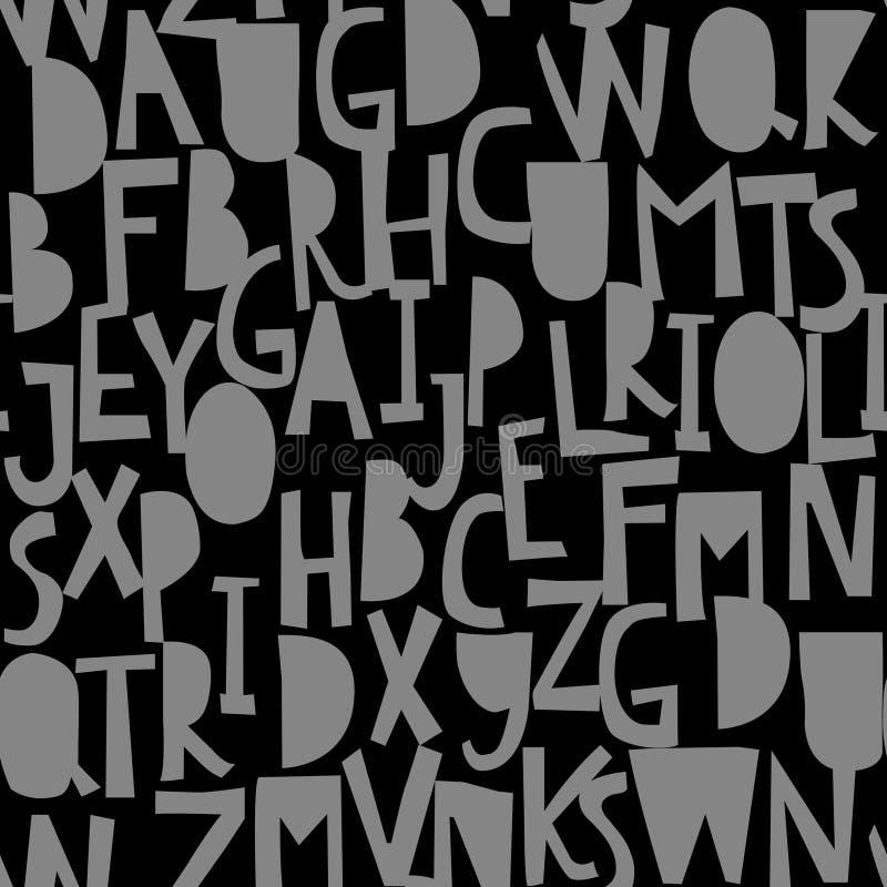 Безшовная картина с abc или алфавитом бесплатная иллюстрация
