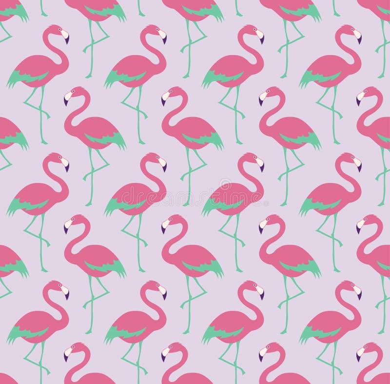 Безшовная картина ткани птиц иллюстрация вектора