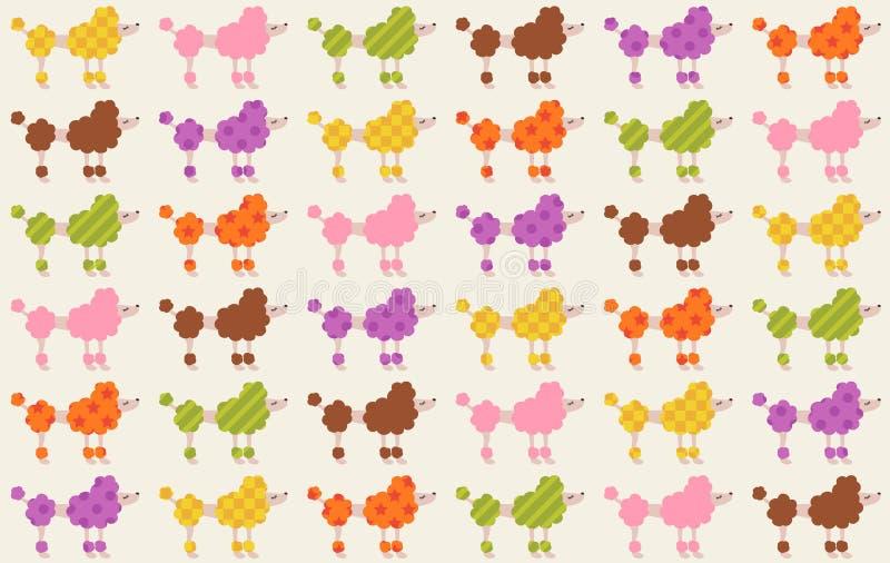 Безшовная картина ткани собак иллюстрация штока