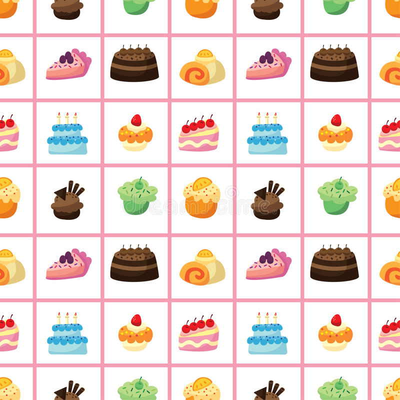 Безшовная картина торта бесплатная иллюстрация