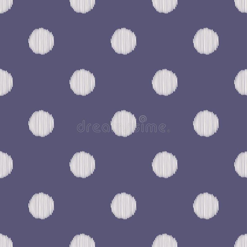 Безшовная картина точек круга иллюстрация вектора