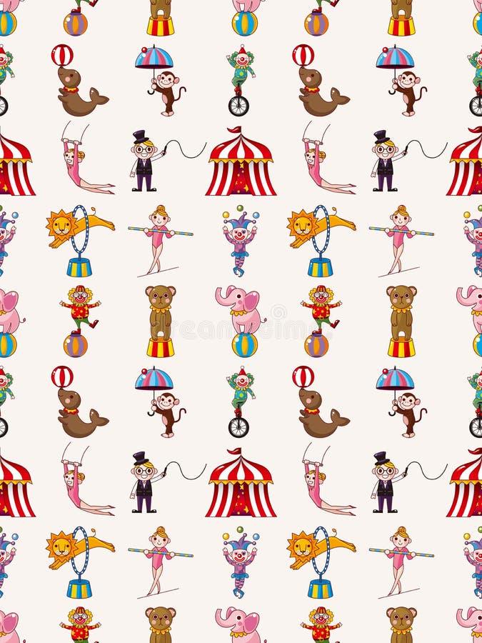 Безшовная картина цирка Стоковые Изображения RF