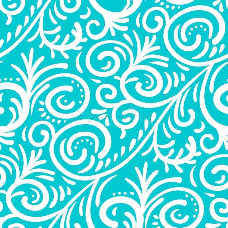 Безшовная картина шнурка вектора Белый винтажный орнамент иллюстрация вектора