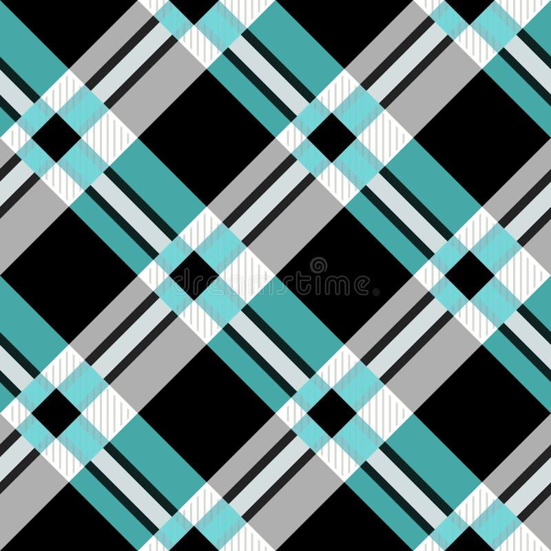 Безшовная картина шотландки тартана Традиционная текстура ткани контролера в тенях темной и салатового иллюстрация вектора