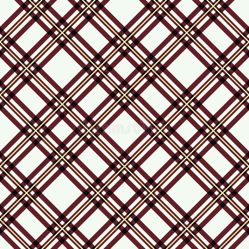 Безшовная картина шотландки тартана Checkered печать текстуры ткани в сером цвете, taupe, бежевый и белый иллюстрация штока