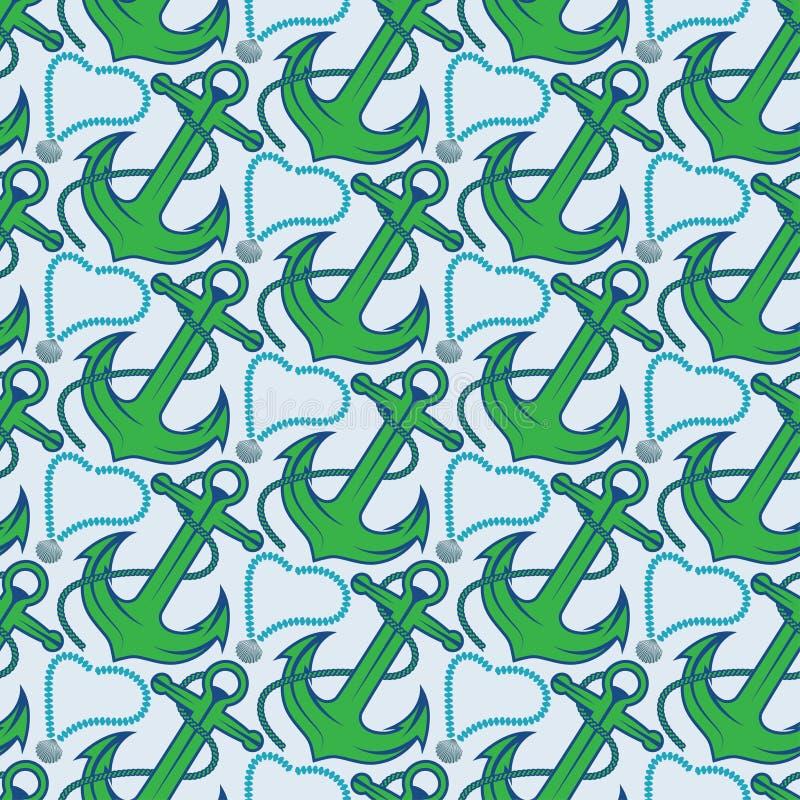 Безшовная картина для морской темы иллюстрация штока