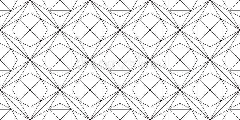 Безшовная картина geo прямых линий бесплатная иллюстрация