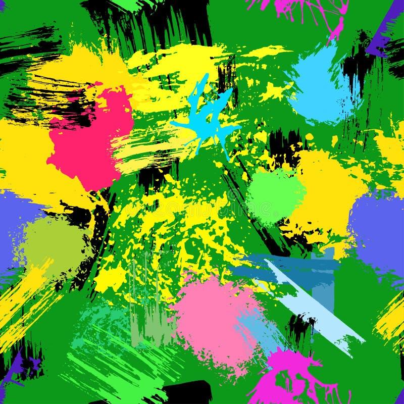 Безшовная картина grunge созданная с ходами щетки стоковое изображение rf