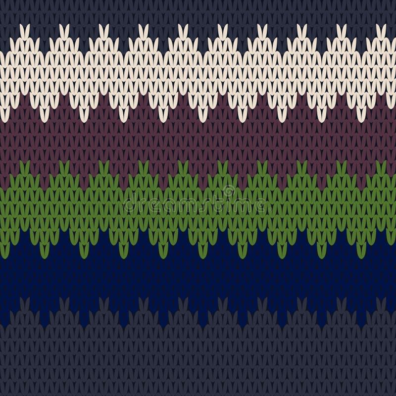 Безшовная картина Knit иллюстрация штока