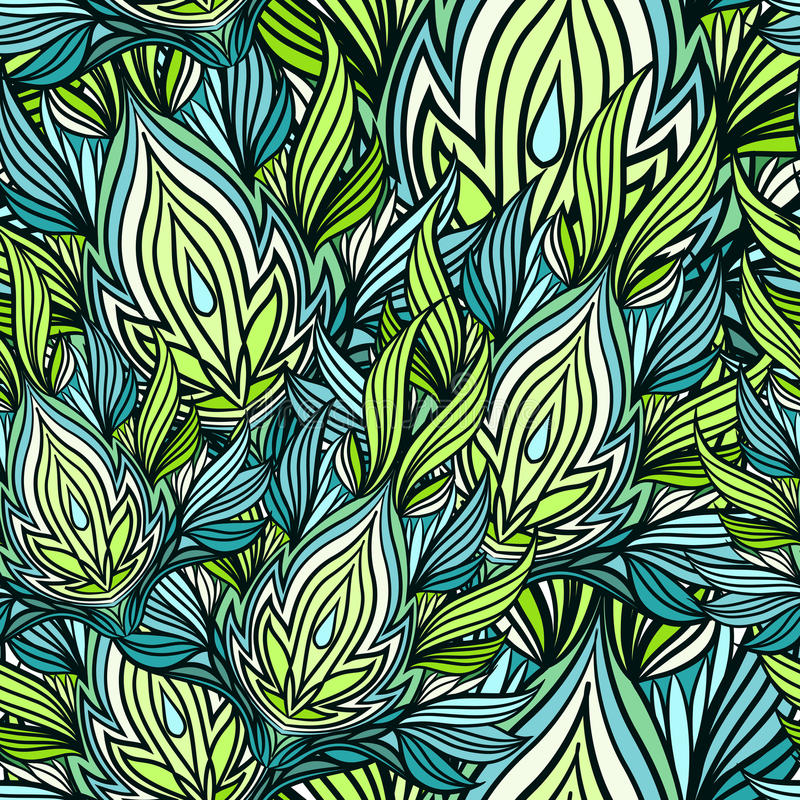 Безшовная картина lotos стоковые изображения