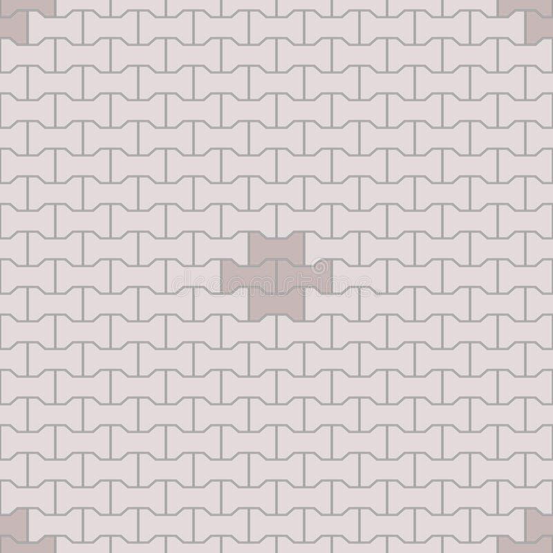 Безшовная картина Paver иллюстрация вектора