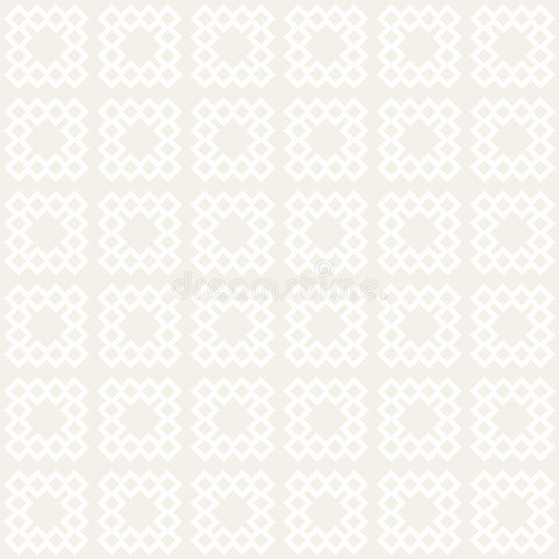 Безшовная картина tracery Повторенная стилизованная решетка Симметричные геометрические обои Мотив шпалеры этнический вектор иллюстрация штока