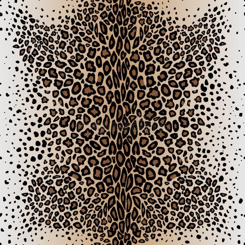 Безшовная кожа ` s леопарда картины вектора бесплатная иллюстрация