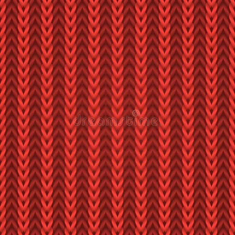 Безшовная красная текстура knit иллюстрация штока