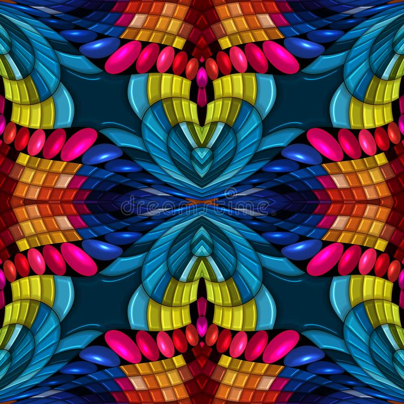 безшовная красочная абстрактная предпосылка 3d иллюстрация вектора