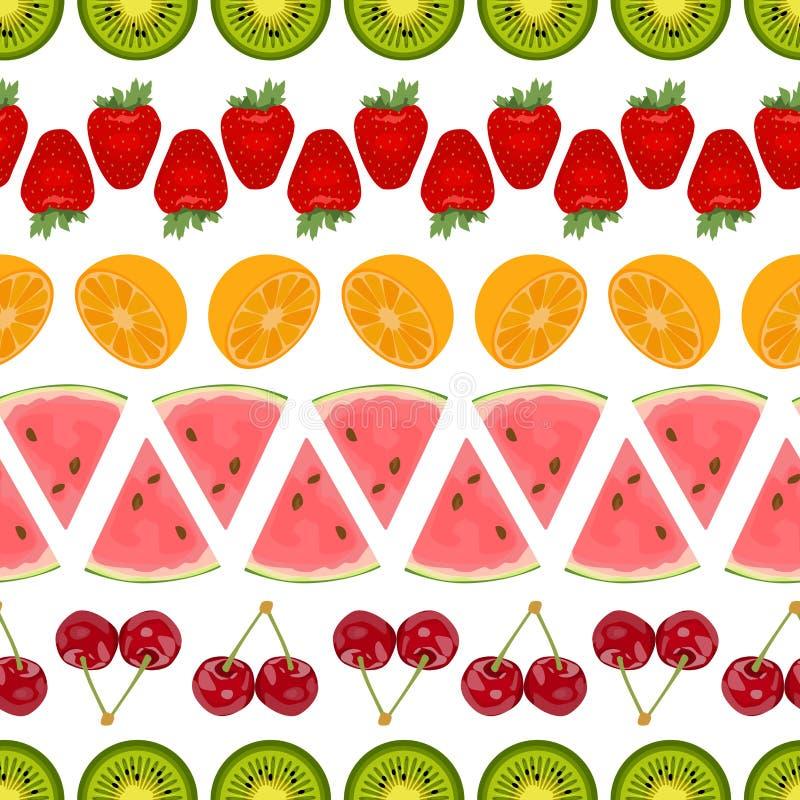 Безшовная красочная предпосылка сделанная из различных плодоовощей аранжировала I бесплатная иллюстрация